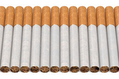 Many cigarettes in row Stock Photography