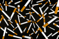 Many cigaretttes on the air Royalty Free Stock Images
