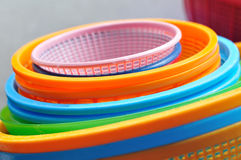 Many clean colorful circle basket Stock Photos