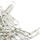 Many clips isolated on white Stock Images