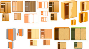 Many closets Royalty Free Stock Images