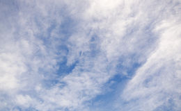 Many Clound on blue sky for blackground.  Royalty Free Stock Photography