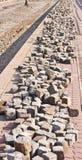 Many cobblestones Stock Photo