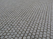 Many cobblestones, a paved square royalty free stock photography