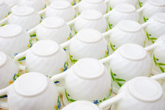 Many cofee cups Royalty Free Stock Photos
