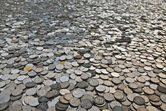 Many coins Stock Images