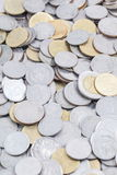 Many coins background Stock Image