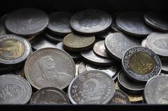 Many coins Royalty Free Stock Image