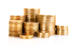 Many coins in column Royalty Free Stock Photos