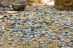 Many coins at the ground Royalty Free Stock Images