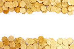Many coins isolated. Ukrainian coins Stock Photo