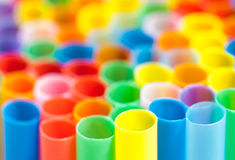 Many color cocktail straws Stock Photography