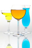 Many color cocktails Stock Photo