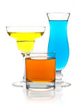 Many color cocktails Royalty Free Stock Photo