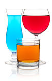 Many color cocktails Royalty Free Stock Image