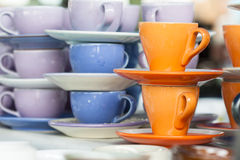 Many color of cup Stock Image