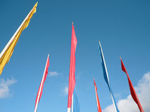 Many color flags Royalty Free Stock Photography