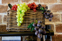 Many color of grapes Stock Photography