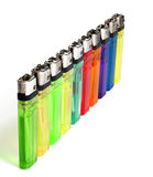 Many color lighters Royalty Free Stock Image
