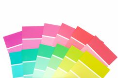 Many color paint chips Royalty Free Stock Photo