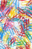 Many color paper clips Royalty Free Stock Image