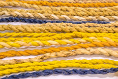 Many color paper rope can make beautiful background. Royalty Free Stock Images