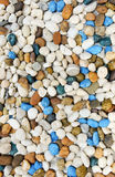 Many color pebble stone Stock Image