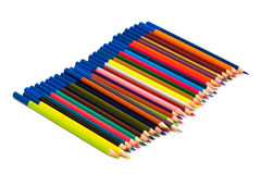 Many color pencils Stock Image
