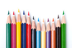 Many color pencils Stock Photo