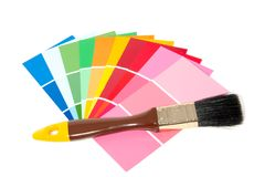 Many color samples Stock Photos