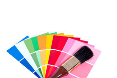 Many color samples Stock Photography