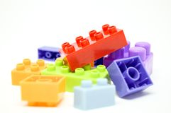 Many color and shape lego. Many color box and shape lego so interesting for Child Royalty Free Stock Photography