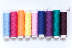 Many color thread, String, Cord, Hank, Strand on the white Royalty Free Stock Image