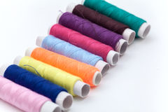 Many color thread, String, Cord, Hank, Strand on the white Stock Image