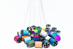 Many color of threads Royalty Free Stock Image