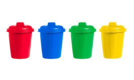 Many color wheelie bins set Royalty Free Stock Photos