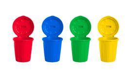 Many color wheelie bins set Stock Photography