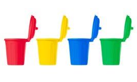 Many color wheelie bins set Stock Photo