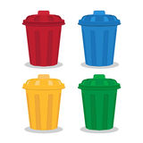 Many color wheelie bins set Royalty Free Stock Image