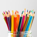 Many color wood pencils Royalty Free Stock Image