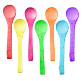Many color of  wooden spoon Royalty Free Stock Photos