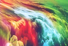 Beautiful many-colored abstract background - Sky - Waterfall - Modern painting. Many-colored abstract background - Sky - Waterfall - Modern painting - red, blue Royalty Free Stock Images