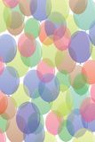 Many-colored ballons  in seamless pattern Stock Photo