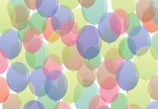 Many-colored ballons  in seamless pattern Stock Images