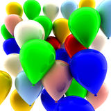 Many colored balloons Stock Images