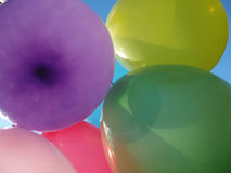 Many colored balloons stock photography