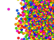 Many colored balls abstract background. With place for your text. 3d Image Stock Photo