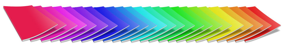 Many colored blank magazine cover Royalty Free Stock Images