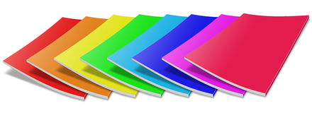Many colored blank magazine cover Stock Photography