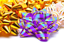 Many colored bright bows Royalty Free Stock Images